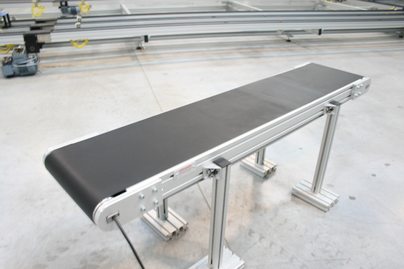 Flat belt conveyors technology elcom conveyors Motorized conveyor belt